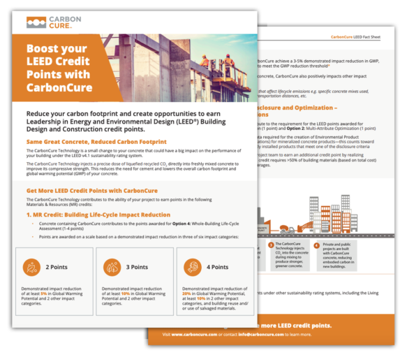 CarbonCure's Contribution to LEED Credits Thumbnail
