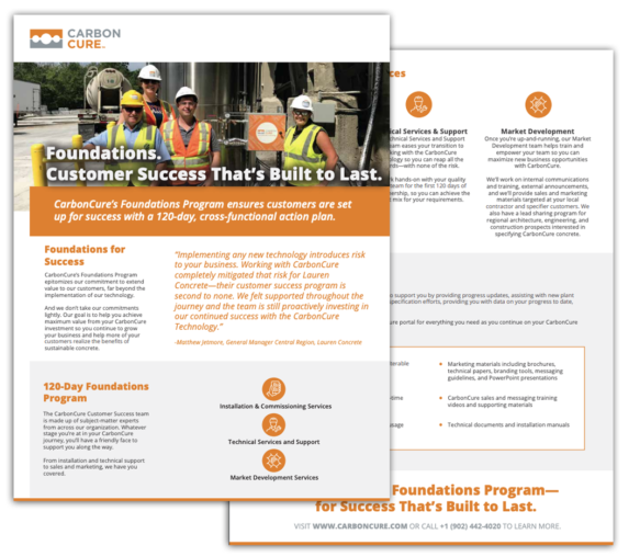 CarbonCure's Customer Success Foundations Program Thumbnail