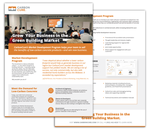 CarbonCure's Market Development Program Thumbnail