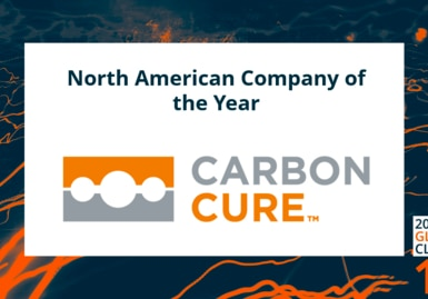 CarbonCure named 2020 North American Cleantech Company of the Year by Cleantech Group