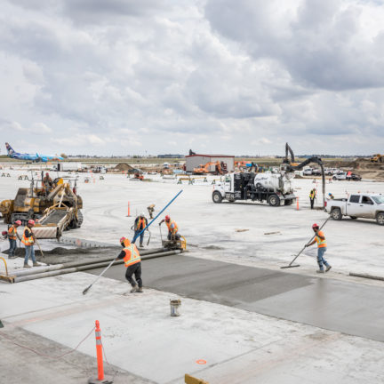 CarbonCure Dufferin Pour at Calgary Airport for WestJet