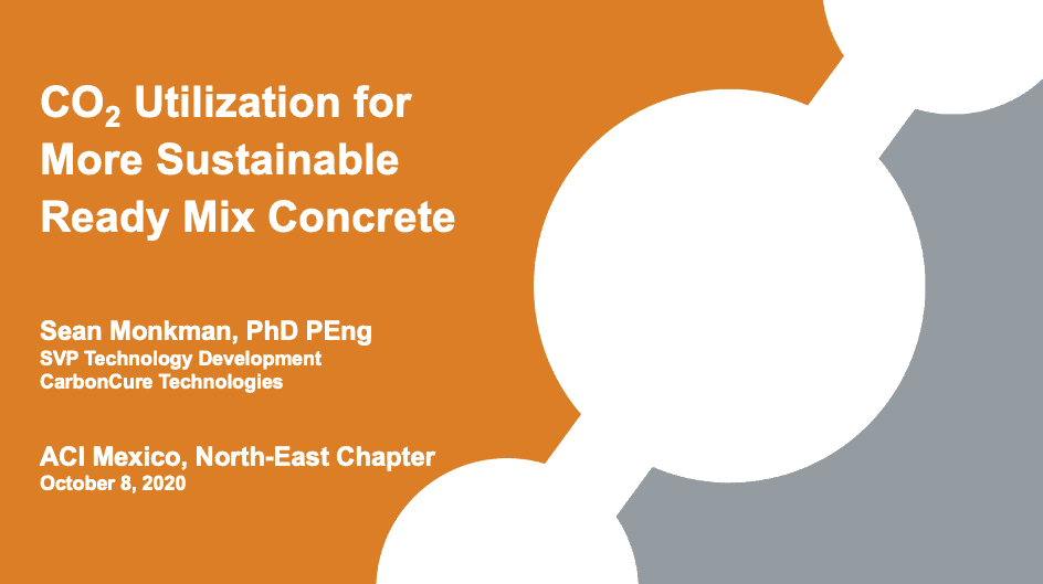 CO₂ Utilization for More Sustainable Ready Mix Concrete