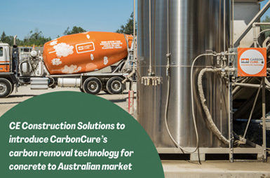CE Construction Solutions to introduce CarbonCure's carbon removal technology for concrete to Australian market Thumbnail