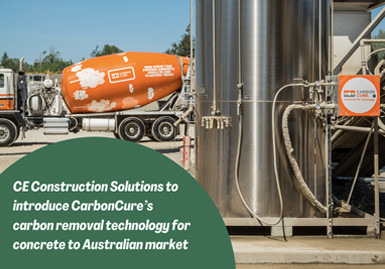 CE Construction Solutions to introduce CarbonCure's carbon removal technology for concrete to Australian market