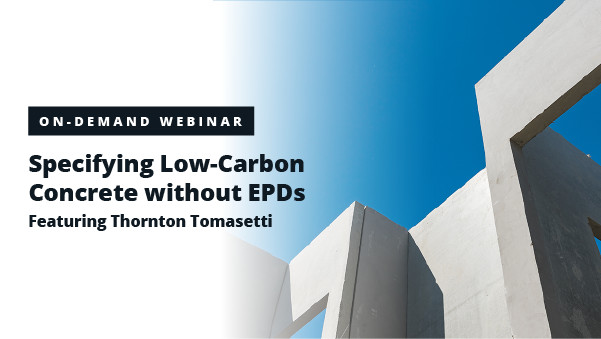 Specifying Low-Carbon Concrete Without EPDs