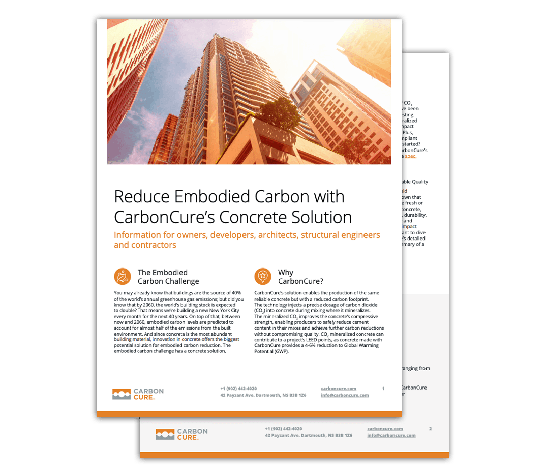 CarbonCure Infosheet for Designers and Builders