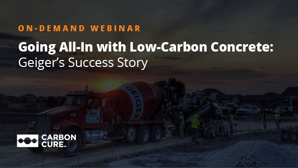 Going All-In With Low Carbon Concrete: Geiger's Success Story Thumbnail
