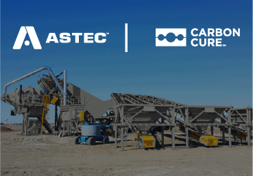 CarbonCure Technologies' Growth Shifts Into High Gear Through Strategic Partner Agreement With ASTEC